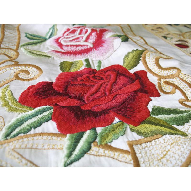 Розы вышивка машинная 64